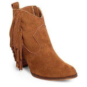 Steve Madden Ohio Fringe leather suede bootie 9.5